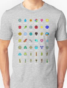 Pokemon Badges T-Shirt