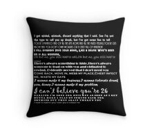 Catfish&the bottlemen lyrics Throw Pillow