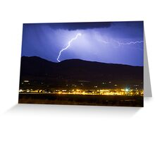 Lightning Striking Over IBM Boulder Greeting Card
