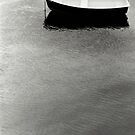 Moored boat - Beaumaris by Richard Flint