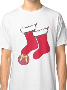 Football Present with stockings Classic T-Shirt