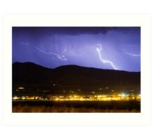 Lightning Striking Over IBM Boulder 2 Art Print