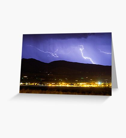 Lightning Striking Over IBM Boulder 2 Greeting Card