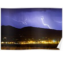 Lightning Striking Over IBM Boulder 2 Poster