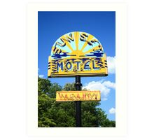 Route 66 - Sunset Motel Art Print