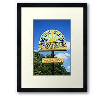 Route 66 - Sunset Motel Framed Print