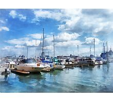 Boat Basin Fells Point Photographic Print