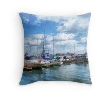 Boat Basin Fells Point Throw Pillow