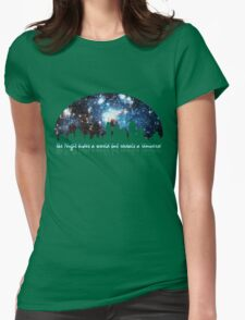The Night hides a world but reveals a Universe Womens Fitted T-Shirt