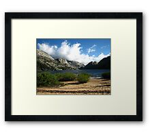 The Windy Serenity of Benson Lake, Pacific Crest Trail, CA 2012 Framed Print