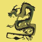 Looong dragon - greenish yellow by The Tundra Ghost