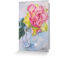 Rose in the glass Greeting Card