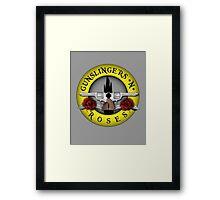 Gunslingers N' Roses Framed Print