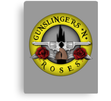 Gunslingers N' Roses Canvas Print