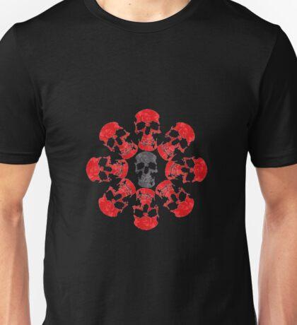 Rose bush skulls Unisex T-Shirt
