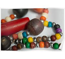 Colorful Beads in chains - ladies jewelery Poster