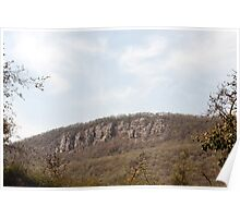 Sariska nature - a weathered hill Poster