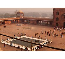 Inside Jama Masjid in the huge courtyard Photographic Print