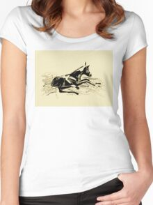 Horse- foal- just born Women's Fitted Scoop T-Shirt
