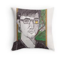 self portrait with a diseased horse chestnut tree Throw Pillow