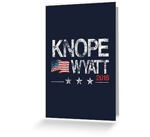 Knope Wyatt Distressed  Greeting Card