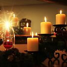 Christmas candles by Marcelene McCowan