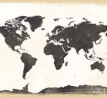 World map classic by Pranatheory