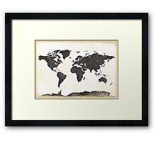 World map classic Framed Print