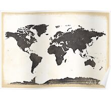 World map classic Poster