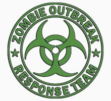 ZOMBIE RESPONSE TEAM round green  by thatstickerguy
