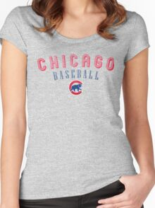 Cubs Chicago Sport Women's Fitted Scoop T-Shirt