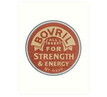 Vintage Bovril Meat Extract Palm Hand Mirror Label Reproduction Art Print