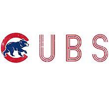 Cubs Sport Retro Photographic Print