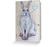 Snow Bunny Greeting Card