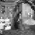 Hall of Mirrors (Two Girls with Pram).  by - nawroski -