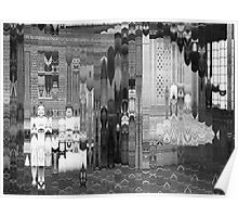 Hall of Mirrors (Two Girls with Pram).  Poster