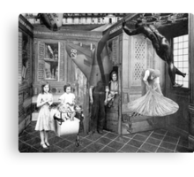 The servants Quarters (Two Girls with Pram). Canvas Print
