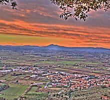 red sunset by Antonio Paliotta