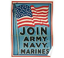 Join Army Navy Marines 002 Poster