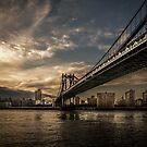 NYC: Manhattan Bridge (HDR- sun) by hannes cmarits
