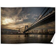 NYC: Manhattan Bridge (HDR- sun) Poster