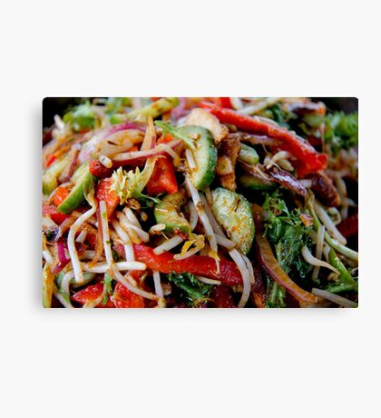 organic salad Canvas Print