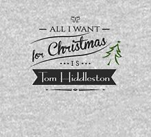 all i want for christmas is Tom Hiddleston Womens Fitted T-Shirt