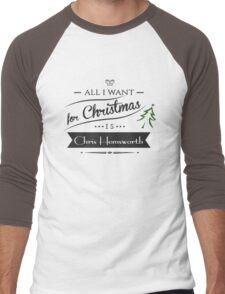 all i want for christmas is Chris Hemsworth Men's Baseball ¾ T-Shirt