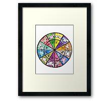 """""""Oro?"""" Astrology Wheel Framed Print"""