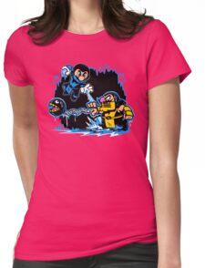 Mario Kombat Womens Fitted T-Shirt