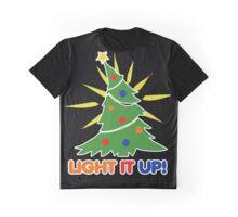 Light it up Christmas Tree Graphic T-Shirt