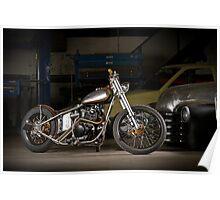 Davo's Custom Honda Bobber Poster