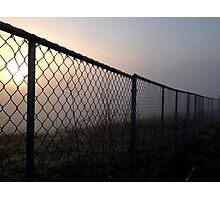 Fenced Sun Photographic Print
