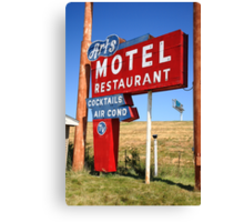 Route 66 - Art's Motel Canvas Print